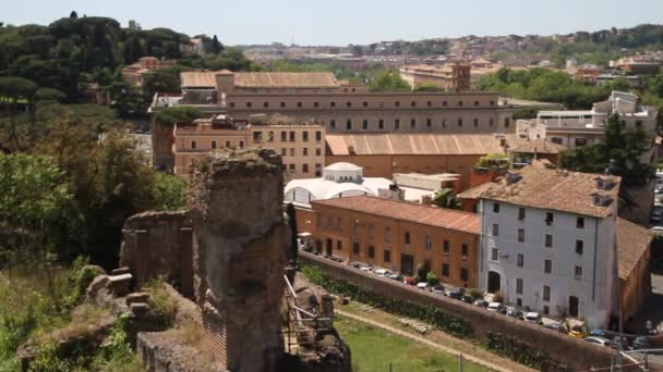 Roman Forum in Rome, Italy. Roman architecture and landmarks. Old and famous attraction of Rome and Italy.