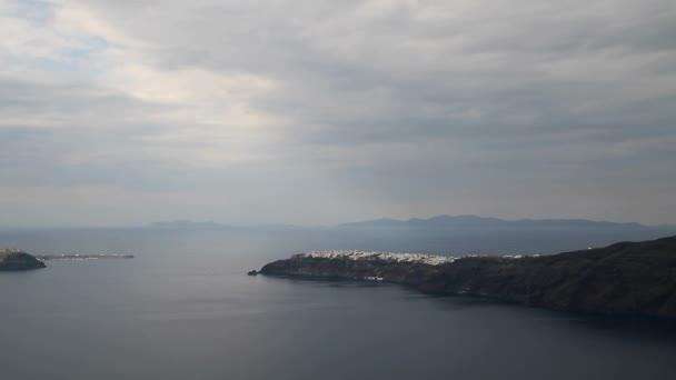 Santorini, Greece. Amazing view of Santorini nature, volcano of Santorini, traditional cycladic Santorini houses, Oia village, Fira, caldera.