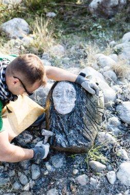 Stone artist sculptor artwork.