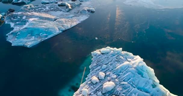 Gletscher- und Eisberglandschaft