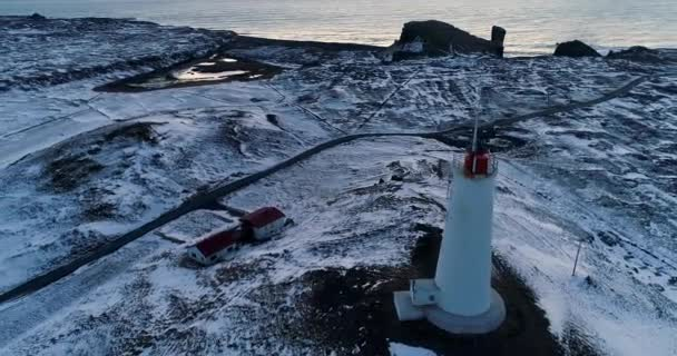 lighthouse in aerial view