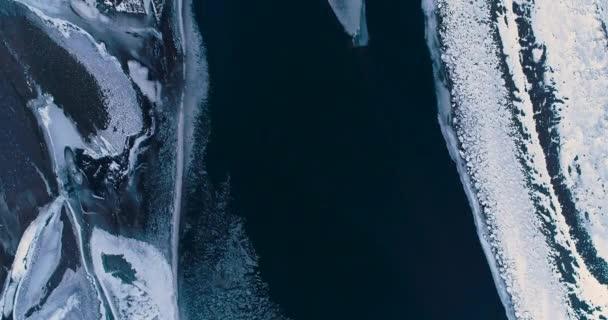 fagyasztott folyó légi felvétel, Izland