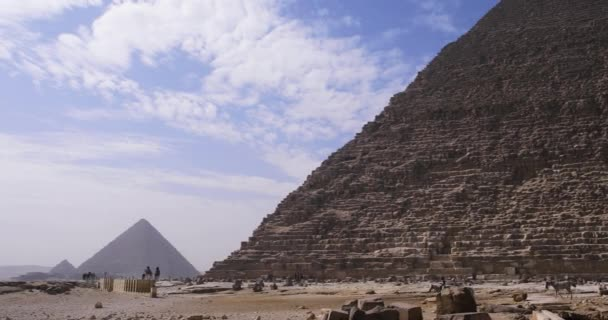 Egyptian Pyramids with Time Lapse and close-up