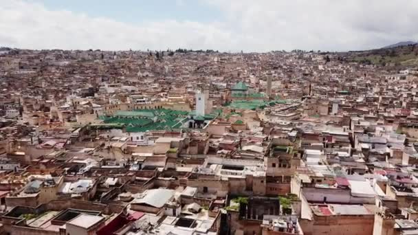 Medina of fez in Morocco in aerial view