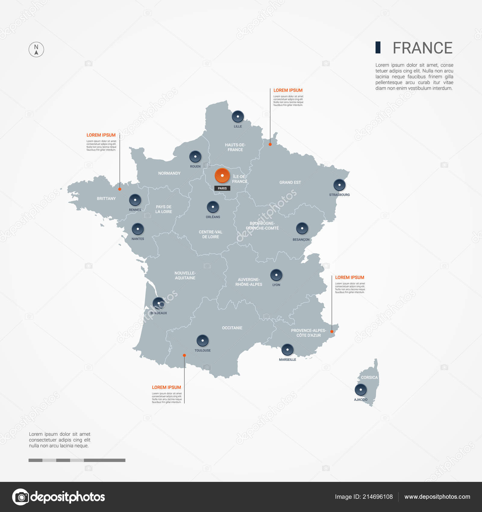 Cities Of France Map.France Map Borders Cities Capital Administrative Divisions