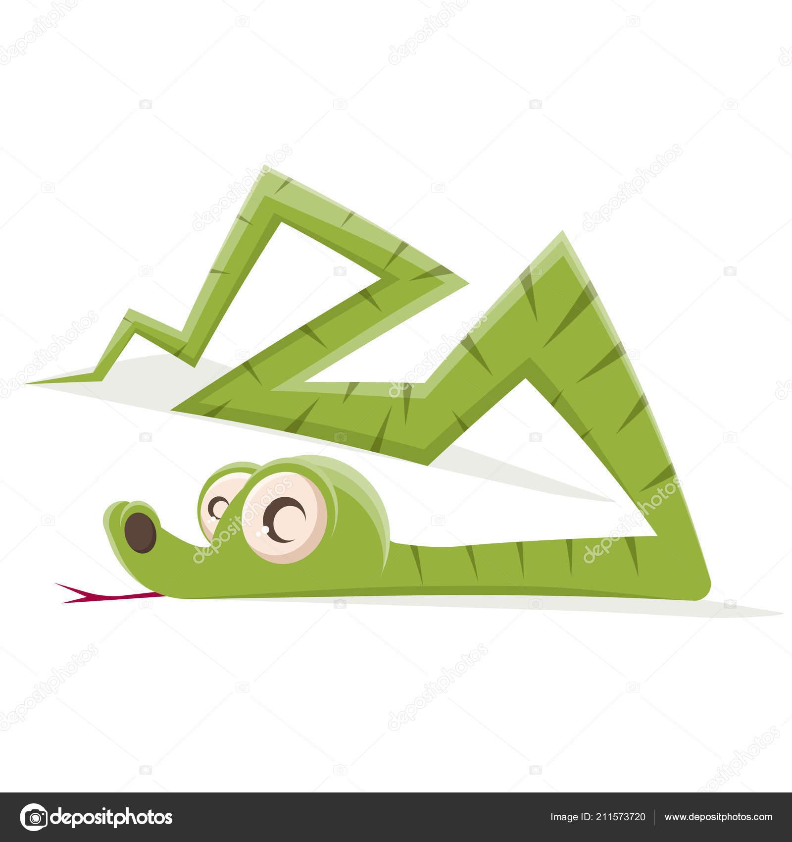 Vtipne Kreslene Ilustrace Zeleneho Hada Stock Vektor C Shockfactor