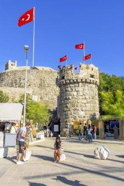 Bodrum, Turkey, 20 May 2010: Bodrum Castle and  Underwater Arche