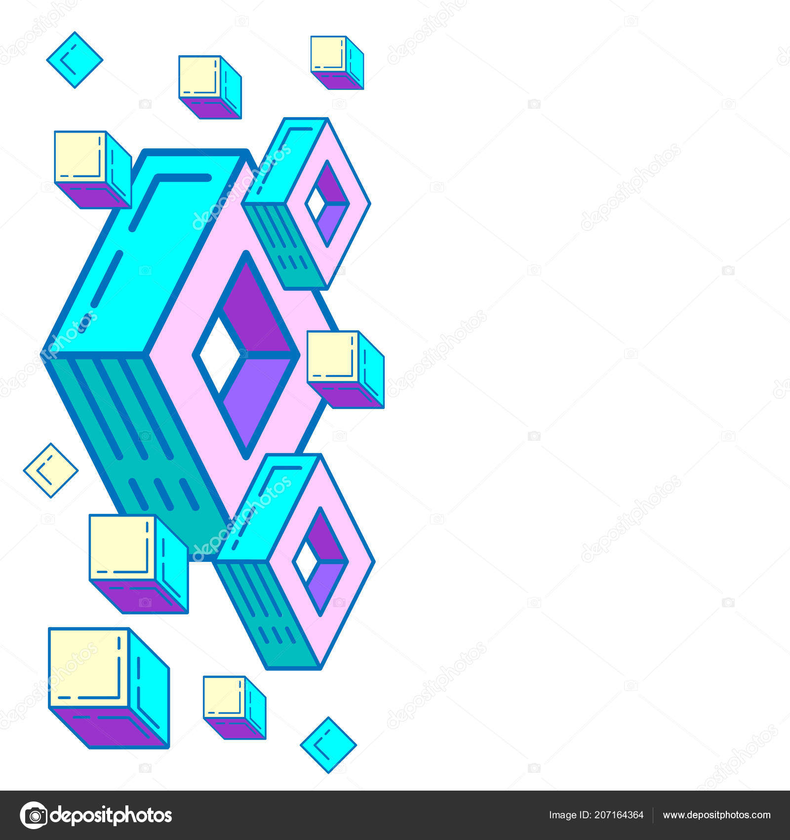 Background Geometric Shapes Vector Abstract Geometric