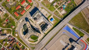 Russia, Sochi - September 03, 2017: Sochi Autodrome. The method of carrying out the Formula 1 in Russia. General view of Sochi Park in the Adler from a bird's-eye view. Sochi, Russia