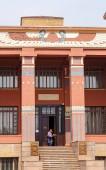 Rusko, Krasnojarsk - 23 července 2018: Krasnojarsk muzeum místní historie v egyptském stylu
