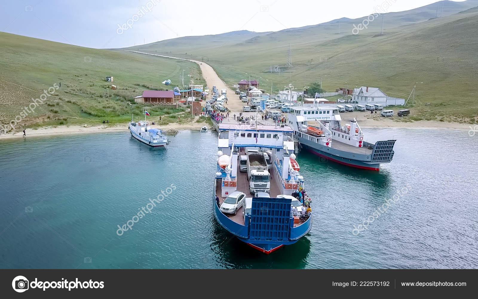 Russia Olkhon July 2018 Mooring Ferry Semen Batagayev Lake