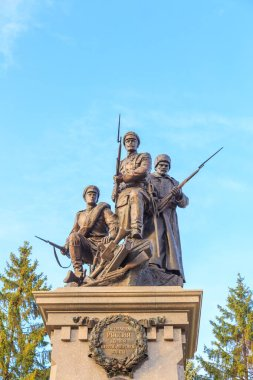 Russia, Kaliningrad - September 22, 2018: Monument to the soldiers of the Russian Imperial Army.