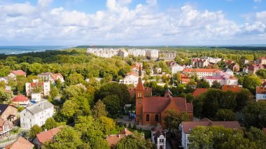 Russia, Zelenogradsk - The Transfiguration Cathedral, From Drone