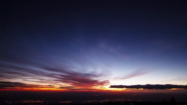 Glitch effect. Sunset and the Milky Way over Sicily. Time Lapse. Video