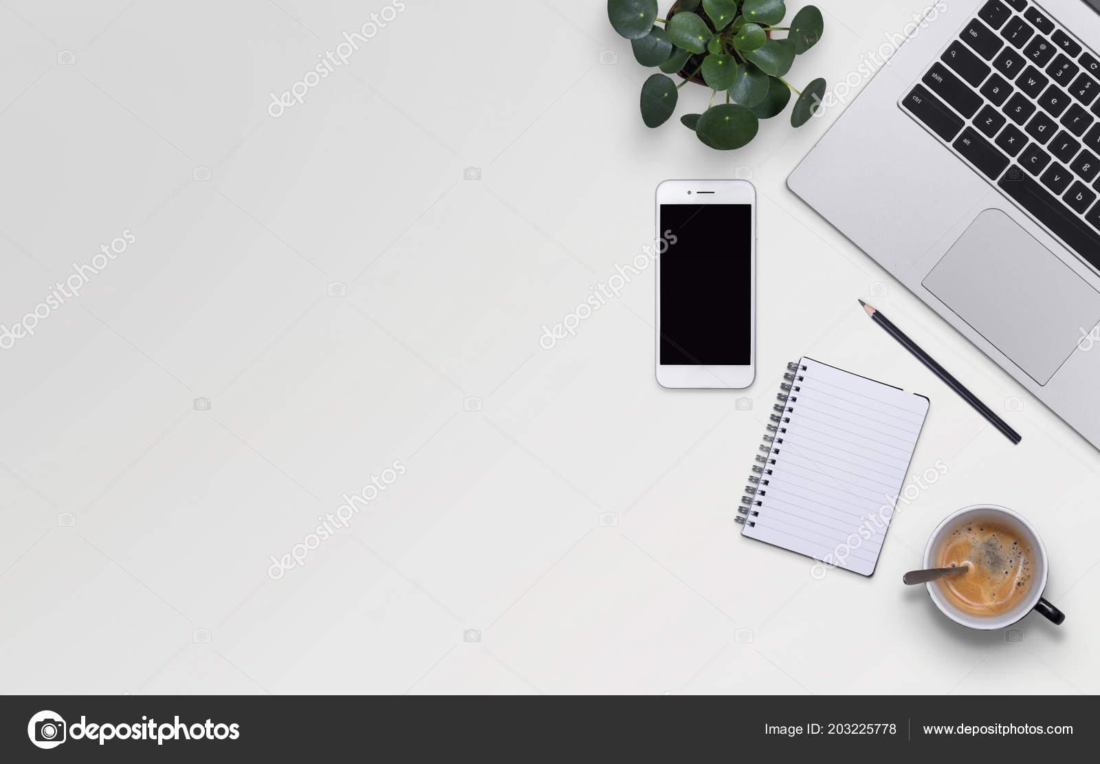Top View Office Desktop Stock Photo Mactrunk 203225778