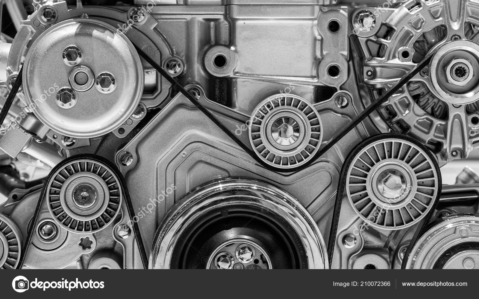 View Pulley Belts Car Engine Stock Editorial Photo C Foto Vdw 210072366