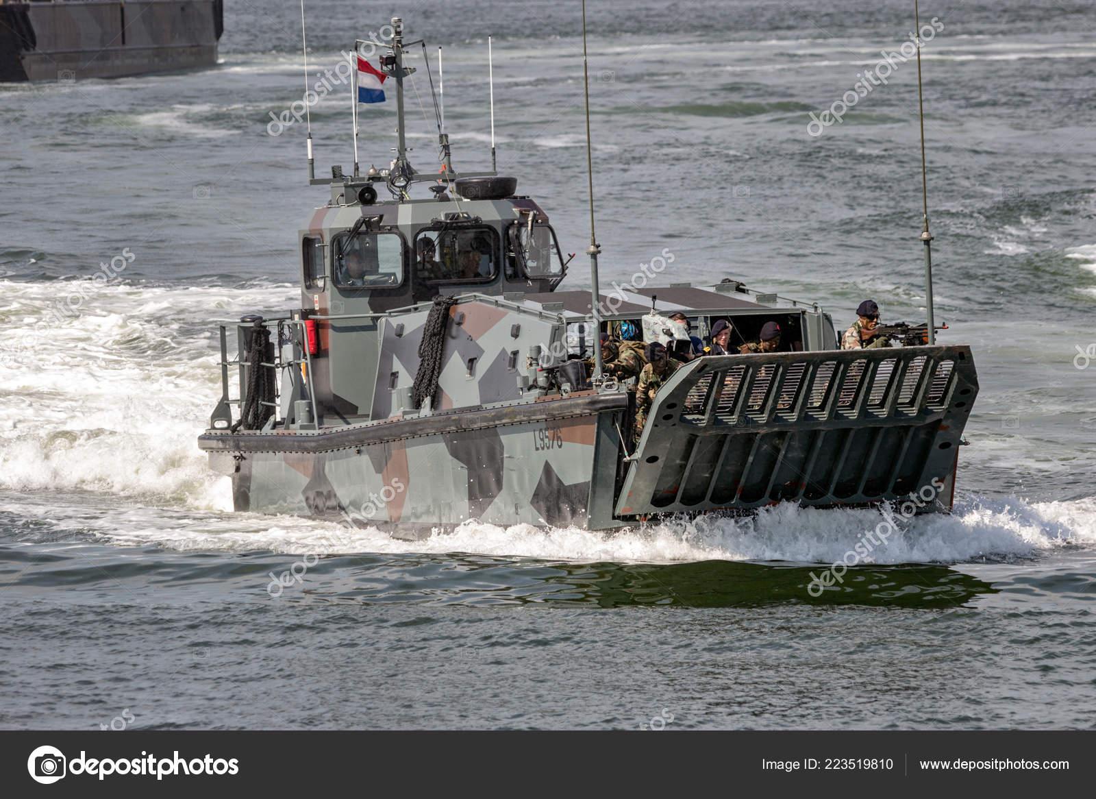 Den Helder Netherlands Jul 2012 Dutch Marines Landing Craft Amphibious Stock Editorial Photo C Foto Vdw 223519810