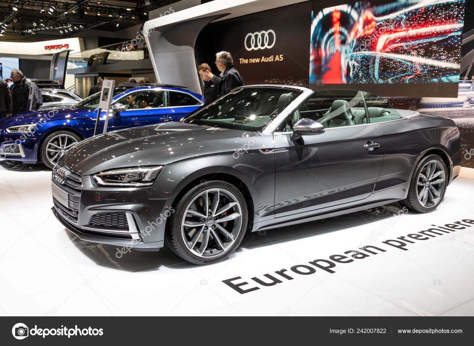 Bruxelas Jan 2017 Novo Carro Audi Cabriolet Exposicao Salao Automovel Fotografia De Stock Editorial C Foto Vdw 242007822