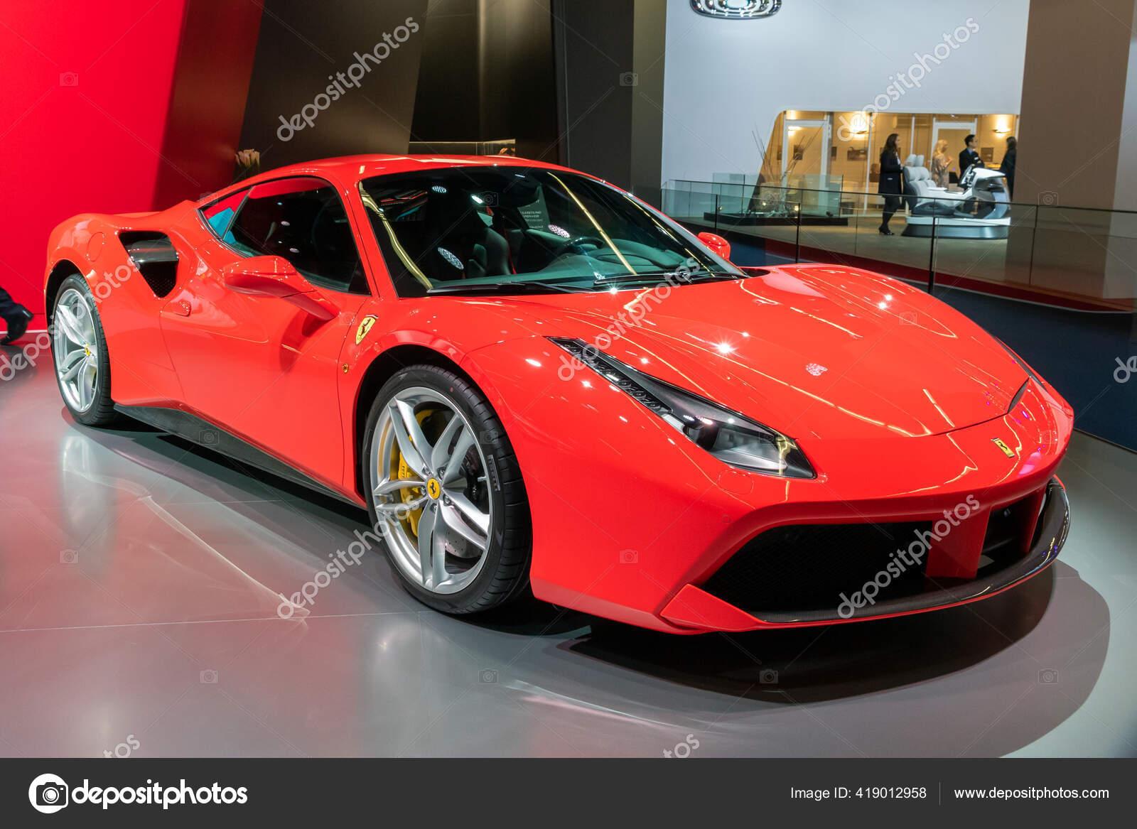 Frankfurt Deutschland September 2017 Sportwagen Ferrari 488 Gtb Spider Auf Redaktionelles Stockfoto Foto Vdw 419012958