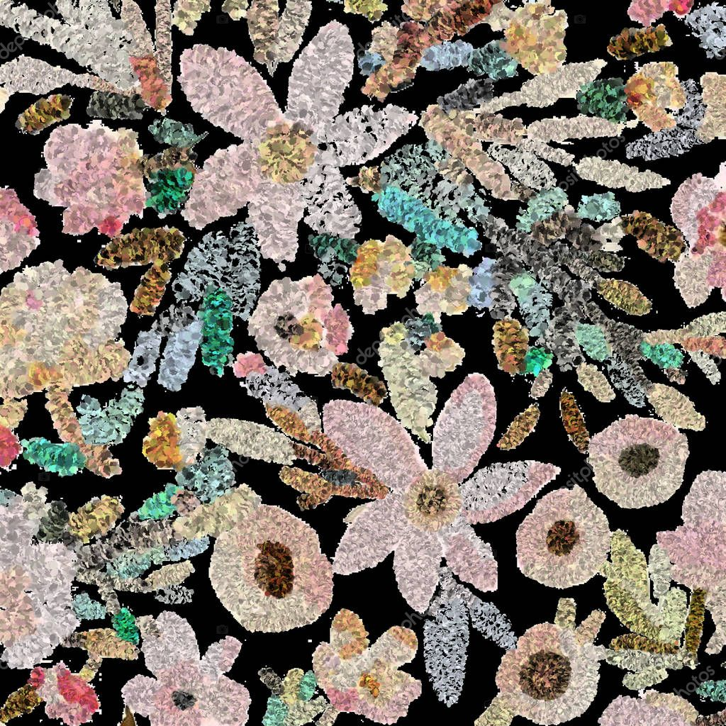 Floral texture modern pattern