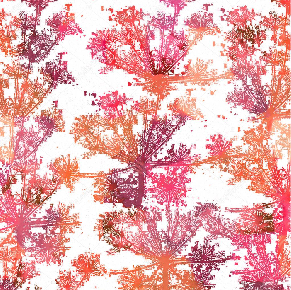 Cow parsley texture repeat modern pattern