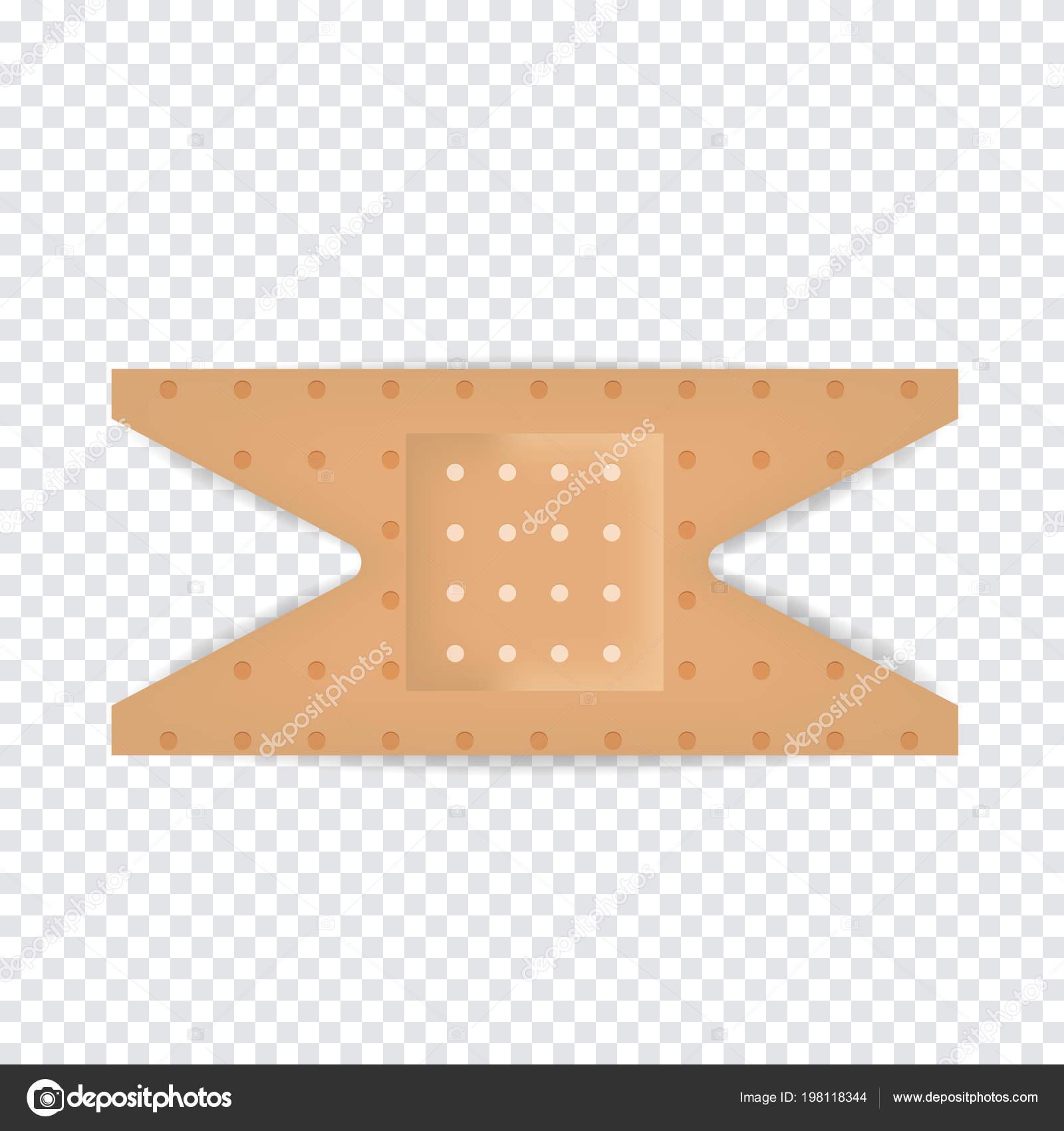 bande plâtre bande réaliste sur fond transparent — image vectorielle