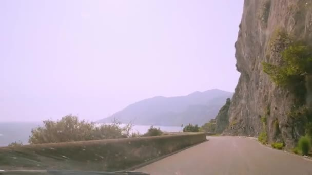 Mountain road in Amalfi Italy