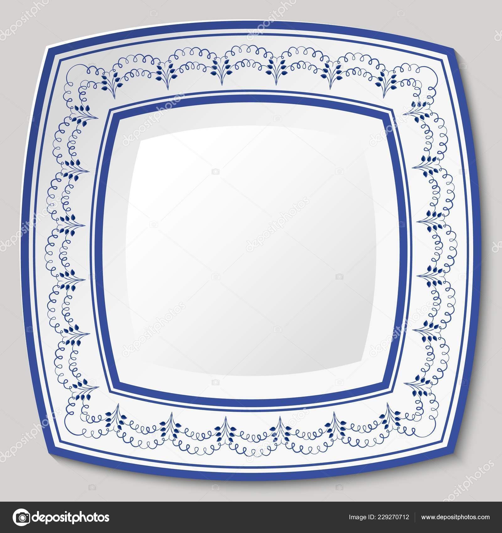 Porselen Etnik Boyama Tarzı Mavi Etnik Desenli Dekoratif Seramik