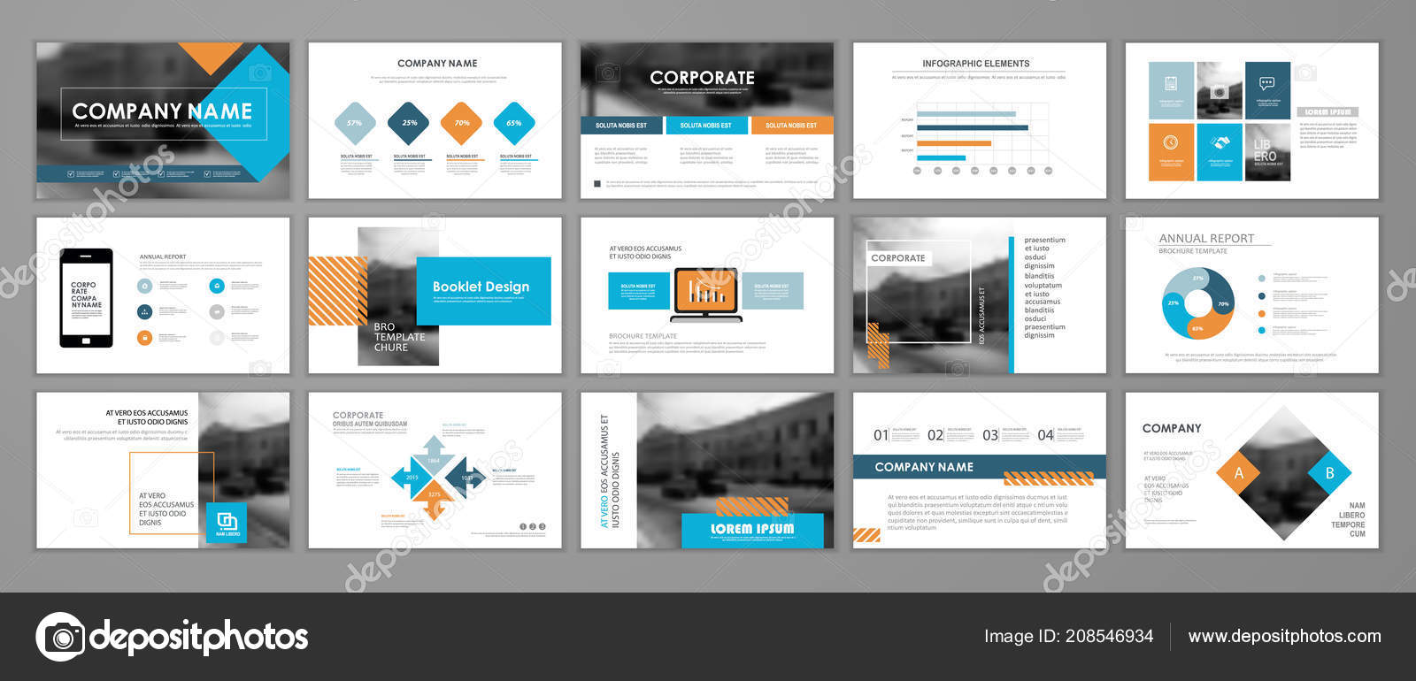 modern presentation slide templates infographic elements template