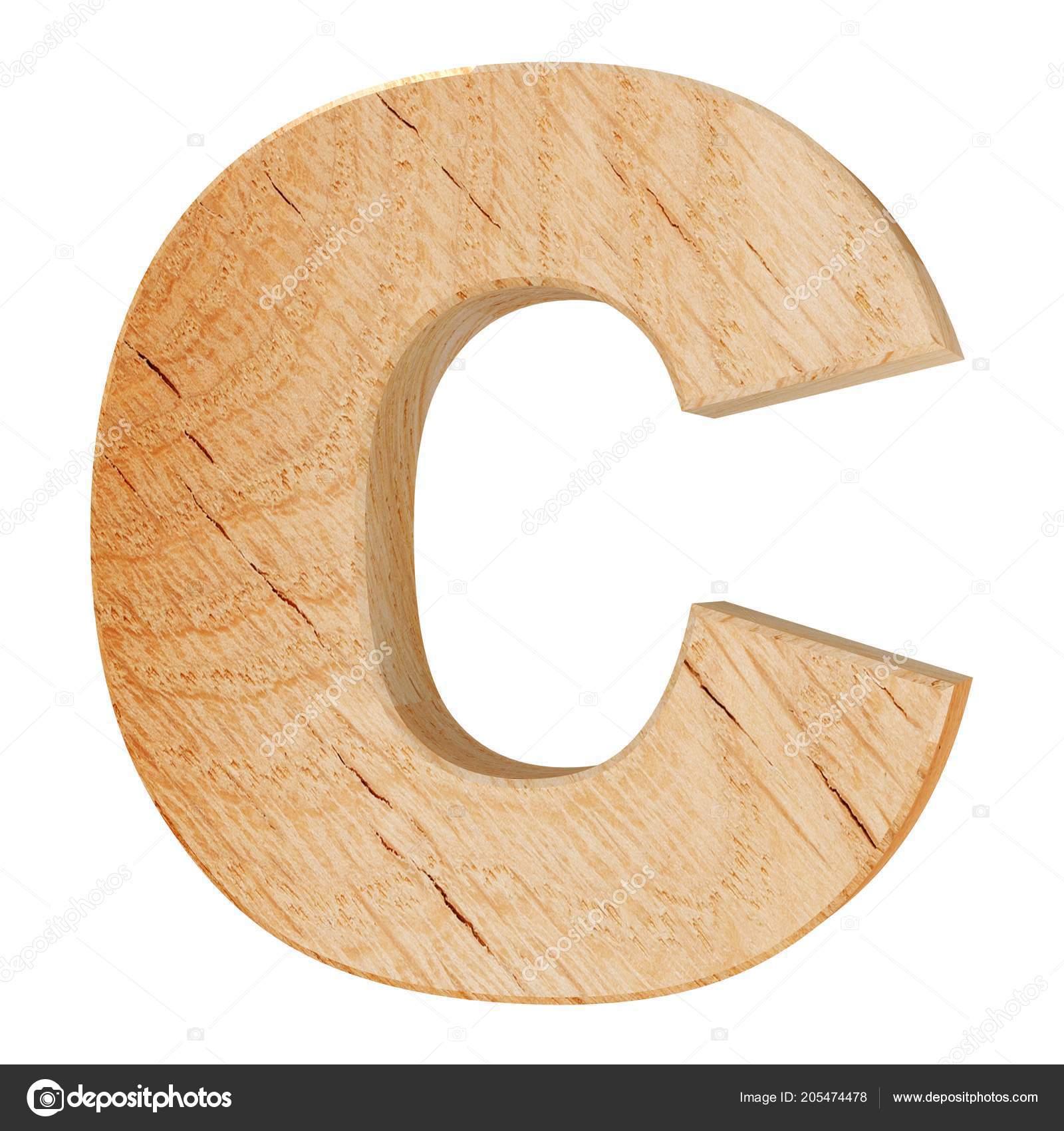 Dekoracyjne Drewniane Alfabet Litery Zdjęcie Stockowe