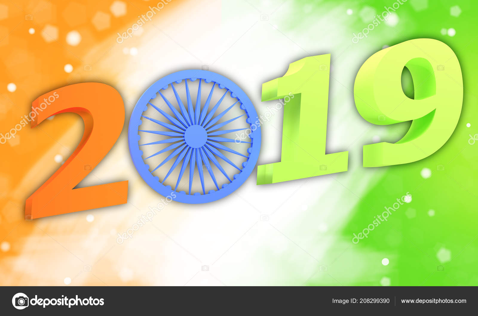 3d Illustration Indian Republic Day Concept With Text 2019 Stock Photo C Maksimka3738 208299390