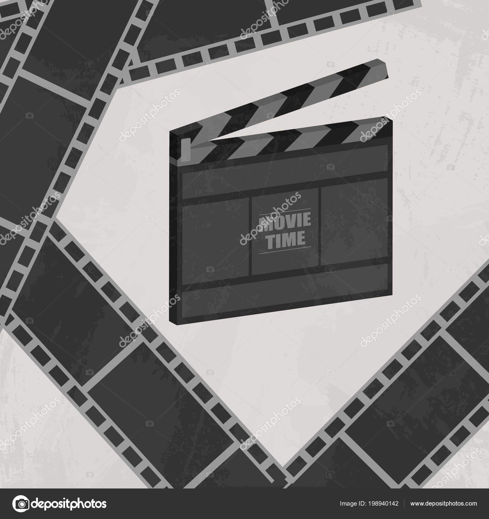 Kino Konzept Plakat Mit Schindeln Und Film Strip Vektor Illustration ...