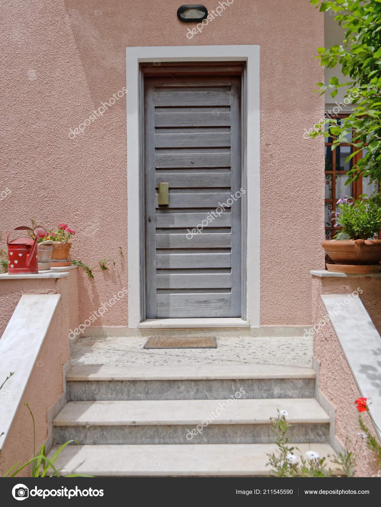 Athènes Grèce Entrée Maison Contemporaine — Photographie DimitriosP ...