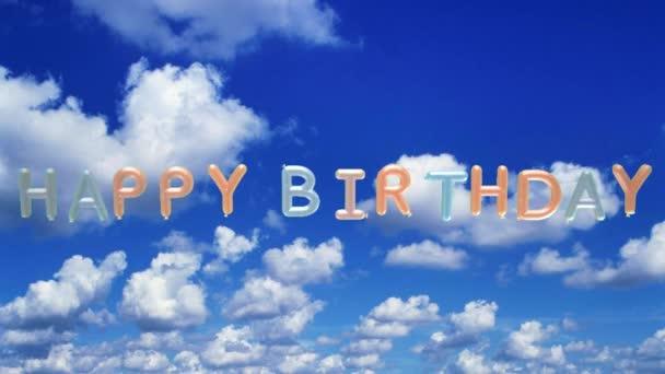 Boldog születésnapot a ballonok animáció