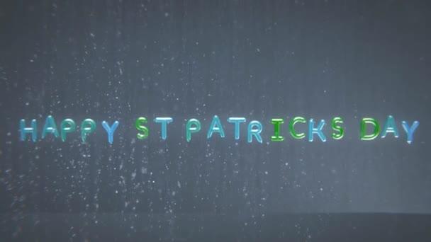 Animaci šťastný St Patricks Day v bublinách