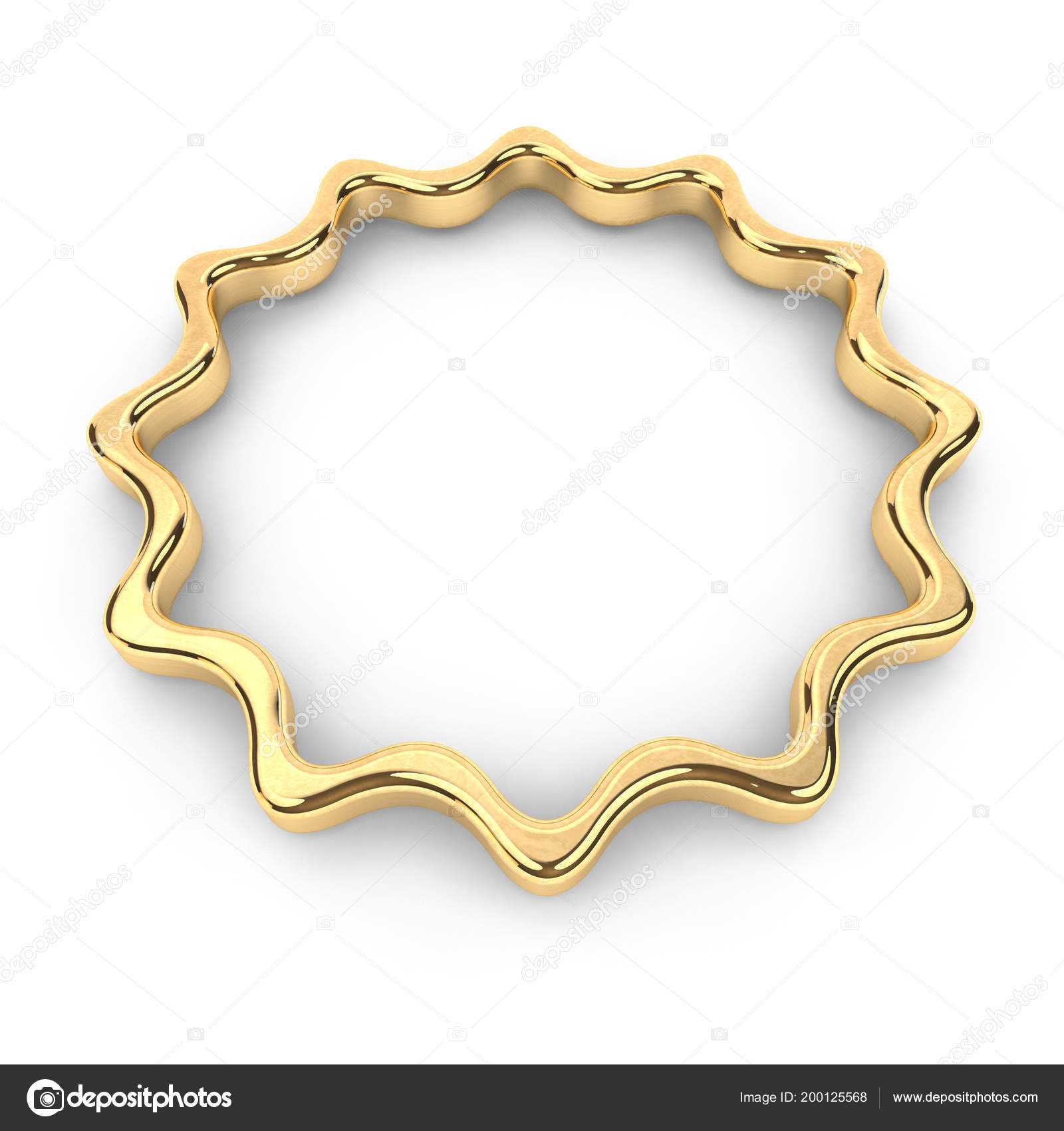 Render Gold Shape Star Frame Copy Space Place Text Jewel — Stock ...