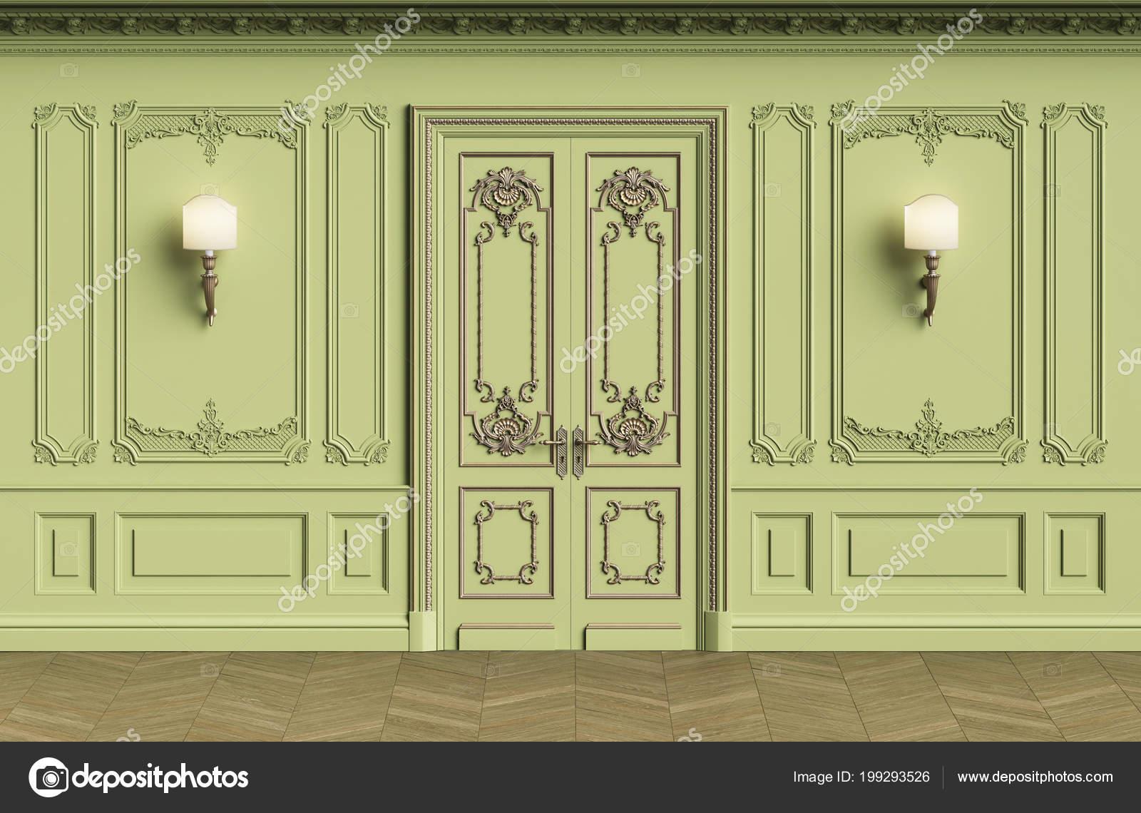 Classiche pareti interne con spazio della copia pareti con