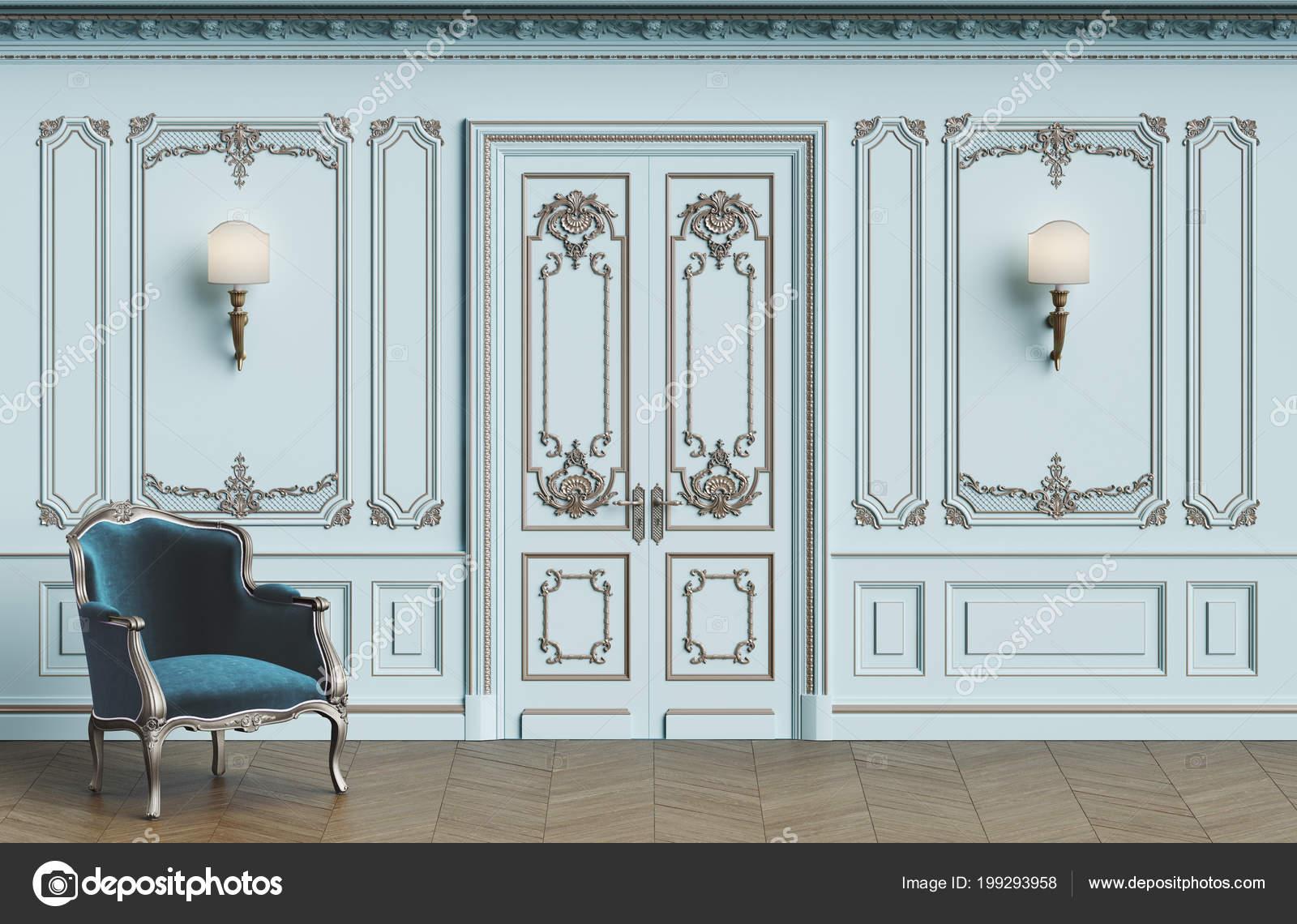 Poltrona classica interni classici con spazio della copia pareti