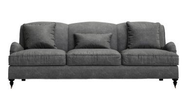 Classic sofa isolated on white background.Digital illustration.3d rendering stock vector