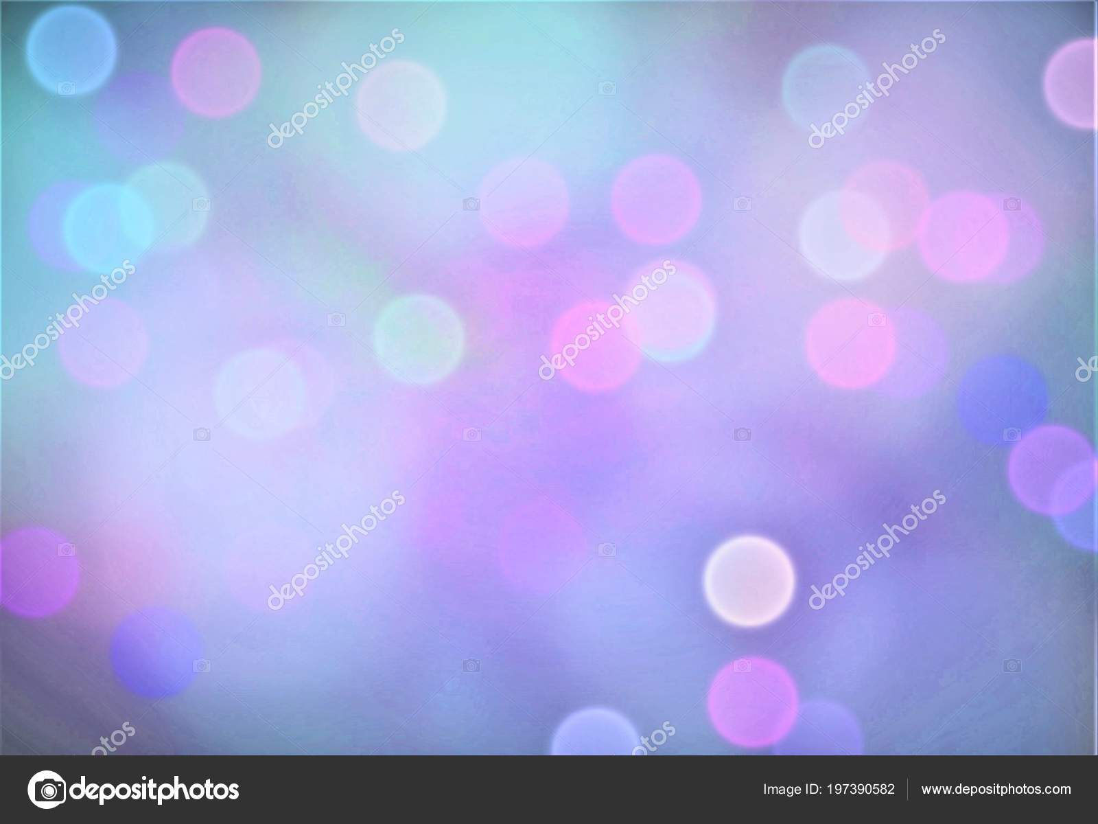 Abstract Background Bokeh Effect Festive Decoration Template Design
