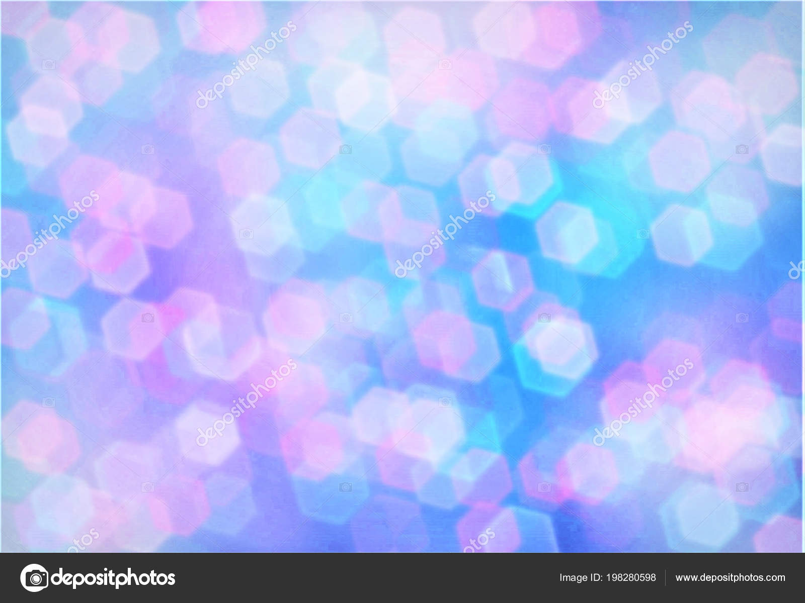 Abstract Background Bokeh Effect Festive Decoration Design Template