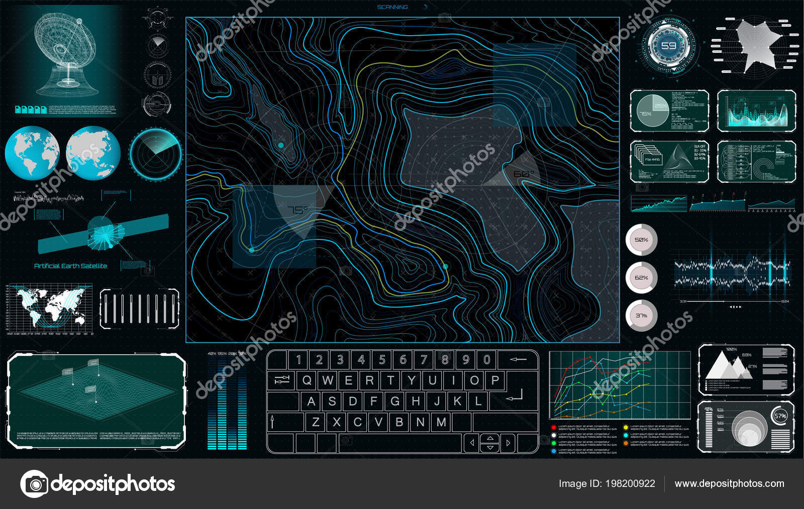Topographic Map Games.Command Center Screen Hud Style Topographic Map Contour Futuristic