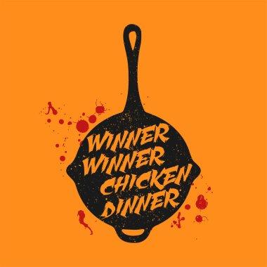 Playerunknown's Battleground (PUBG) slogan - Winner Winner Chicken Dinner