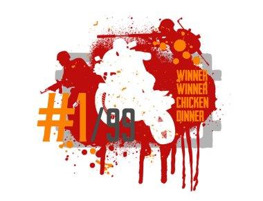 Poster and phrase from the game - winner winner chicken dinner
