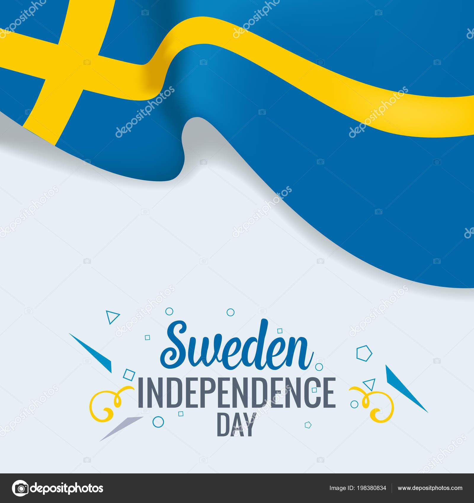 Schweden Unabhängig Tag Feier Banner Oder Poster Vektor Template