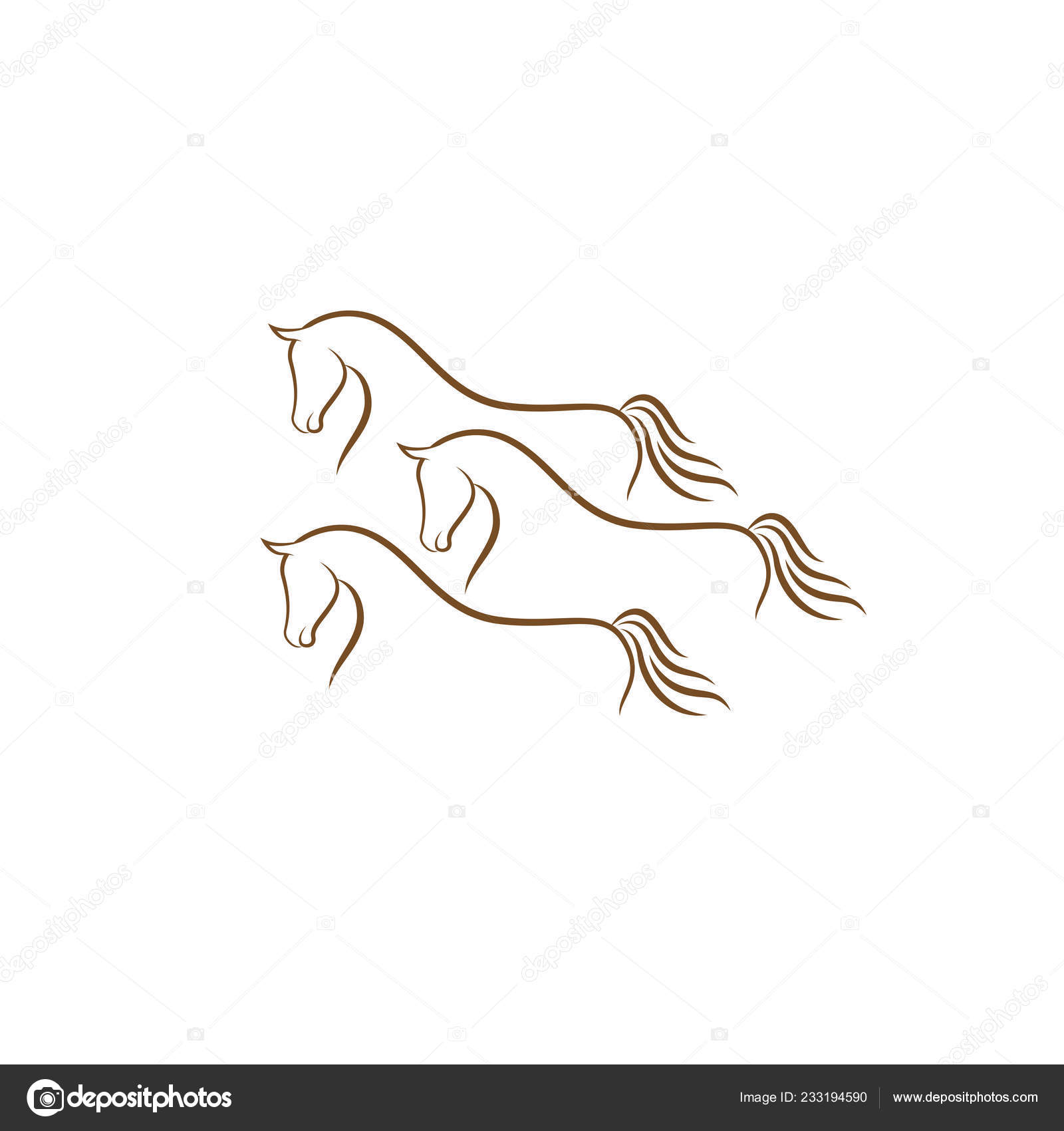 Horse Logo Design Illustration Horse Silhouette Vector Horse Vector Inspiration Stock Vector C Alfianiqbal 233194590