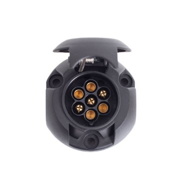 socket for towed, towbar car on a white background, isolate, communication