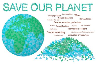 Save our planet - concept Environmental day