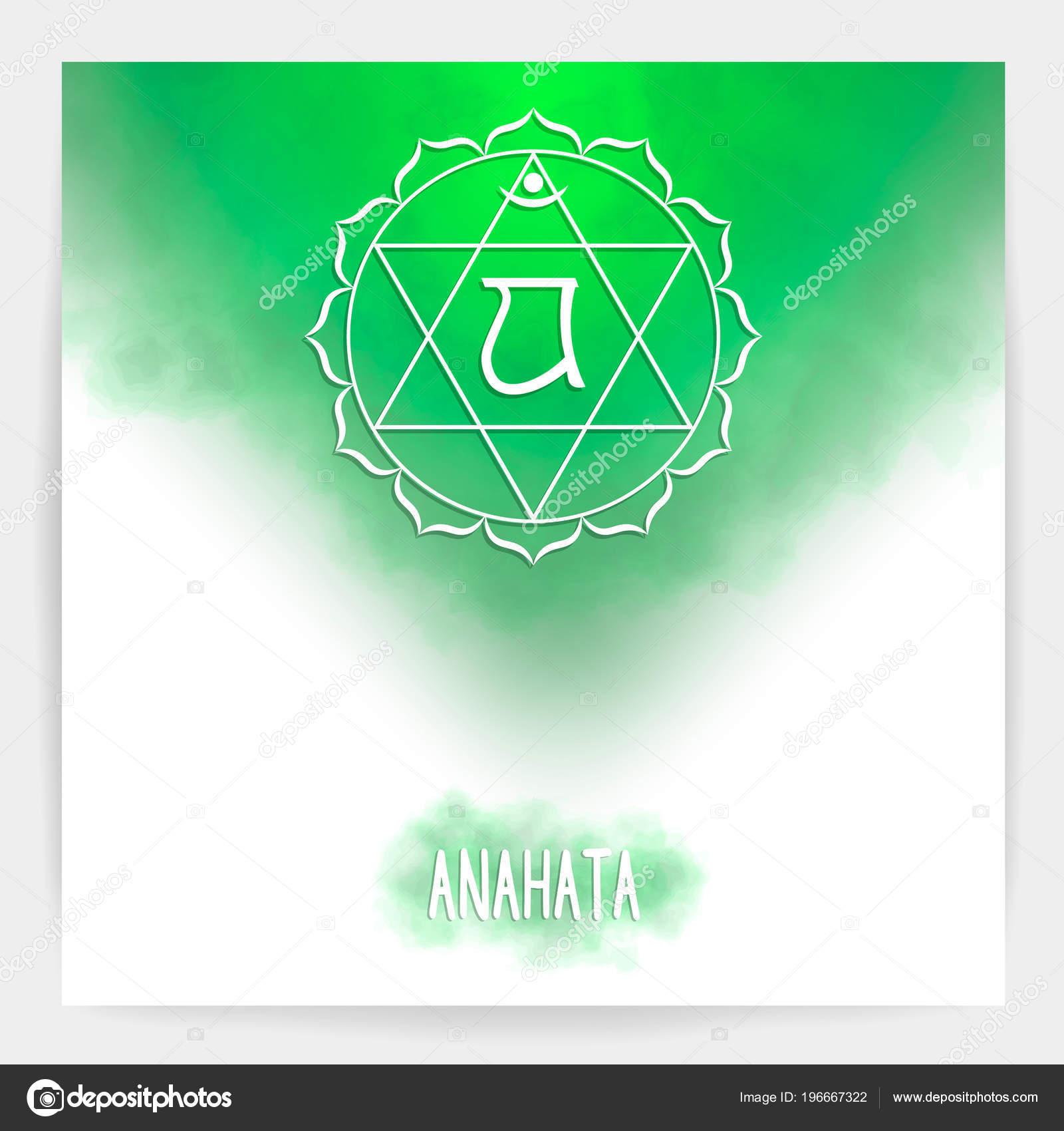 Cuarto, chakra corazón - Anahata. — Vector de stock © hazecats ...