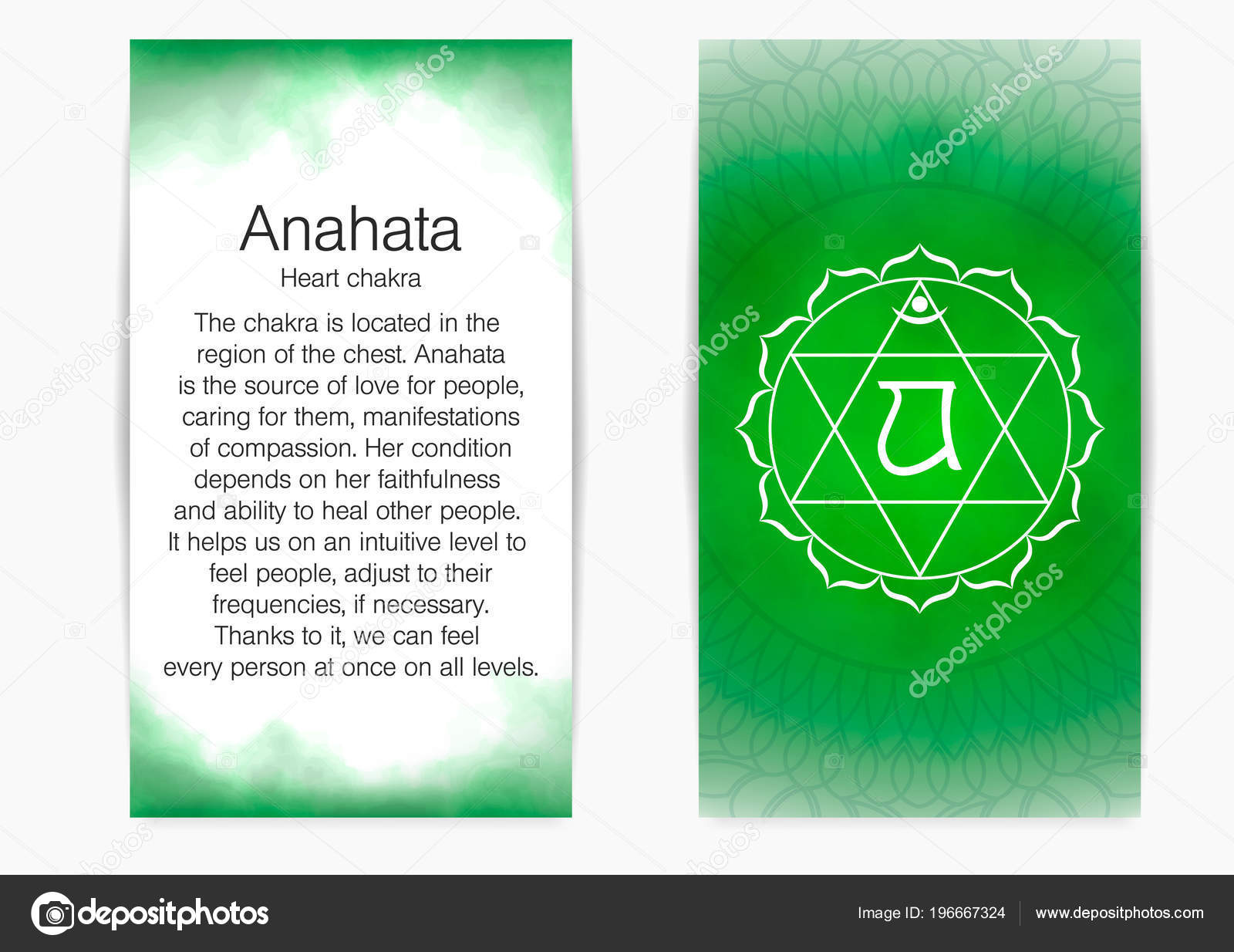 Cuarto, chakra corazón - Anahata. — Archivo Imágenes Vectoriales ...